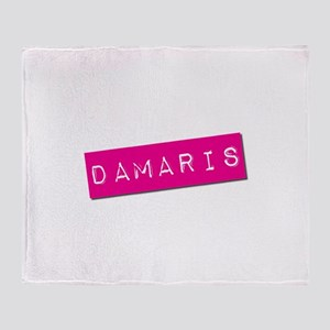 Damaris Punchtape Throw Blanket